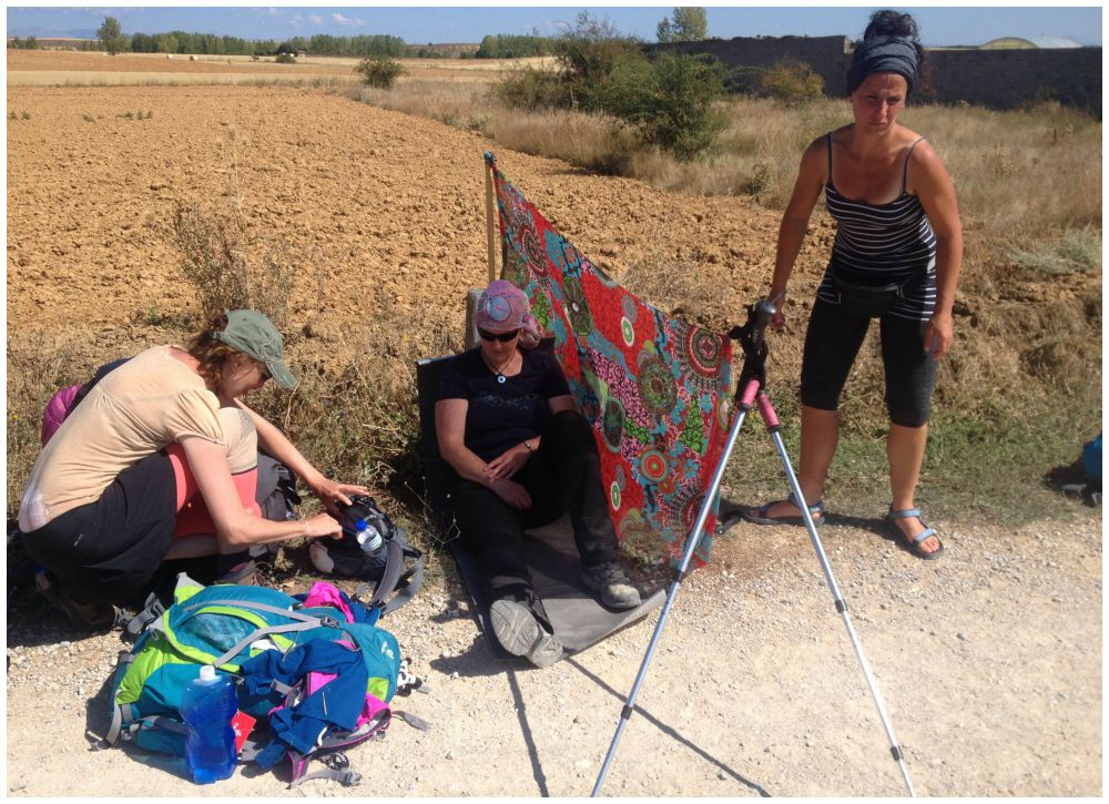 Dr Inge on duty, sun shade up and a taxi called