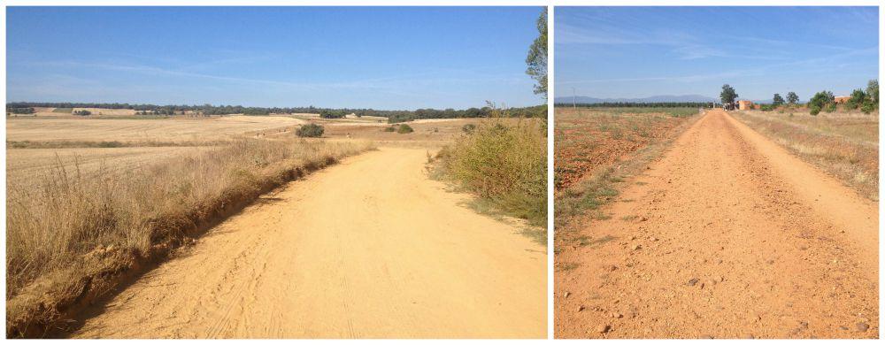 Dusty way on the Camino nearing Astorga