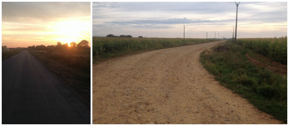 Early morning walking on the Camino
