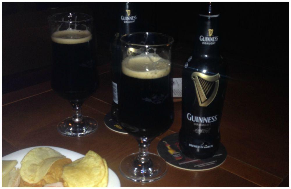 Enjoying a Guinness for my Gramps