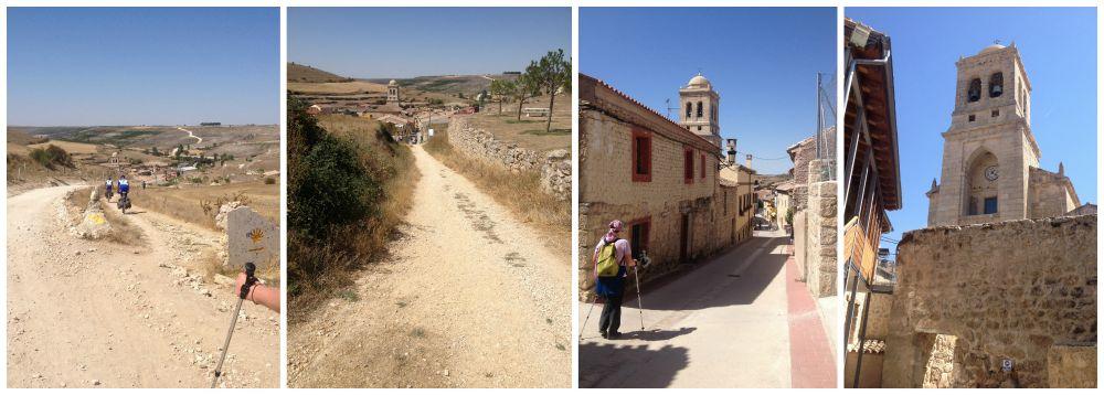 Hontanas in Spain on the Camino way