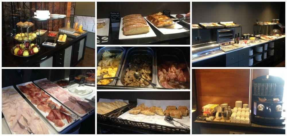 Hotel A1 Marriott breakfast buffet in Ponferrada