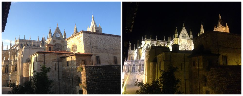 León Cathedral day & night