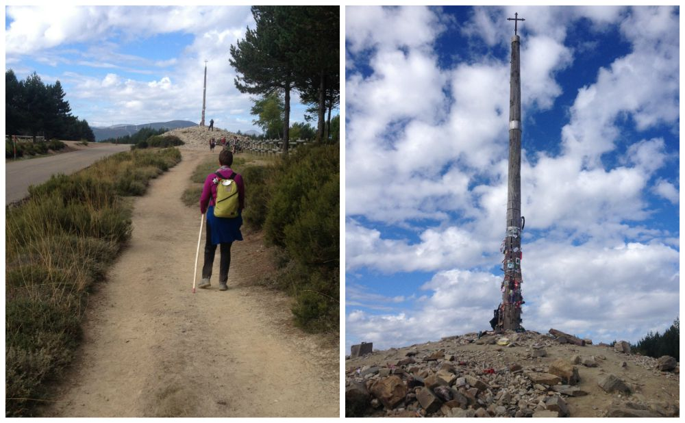 Le Cruz De Ferro near Foncebadon on the Camino