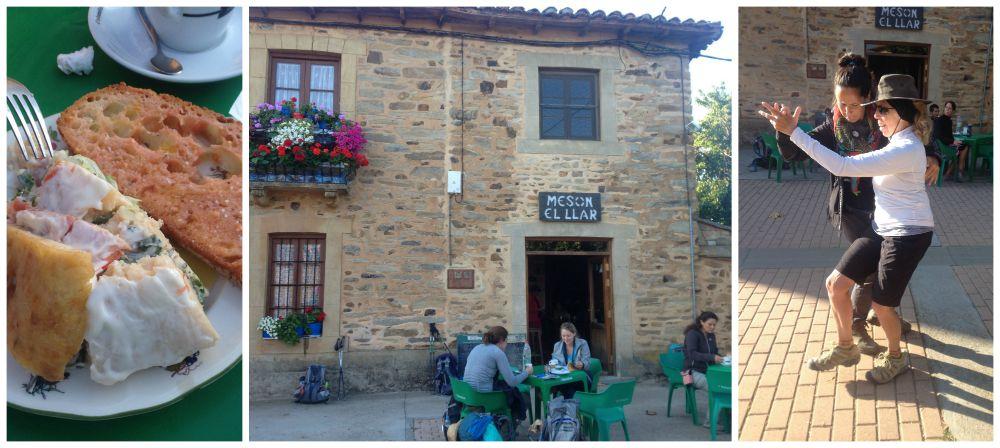 Meson El Llar for breakfast after leaving Astorga