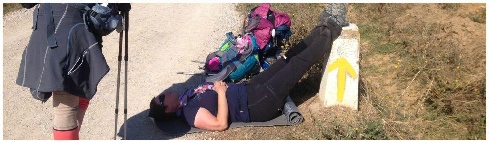 Pilgrim down on the Camino