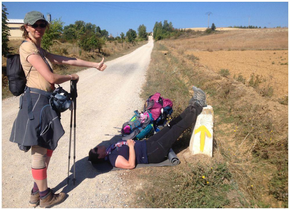 Pilgrim down... Moni with heart race