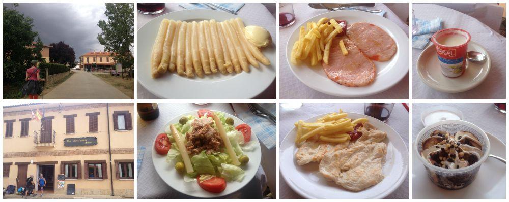 Pilgrim lunch in Itero