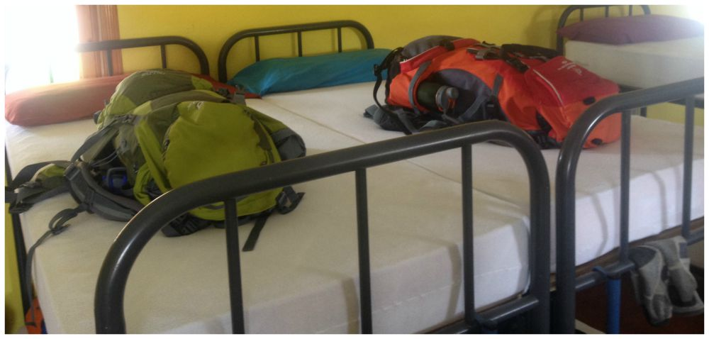 Pilgrim rule #1 Never put your backpacks on the bed