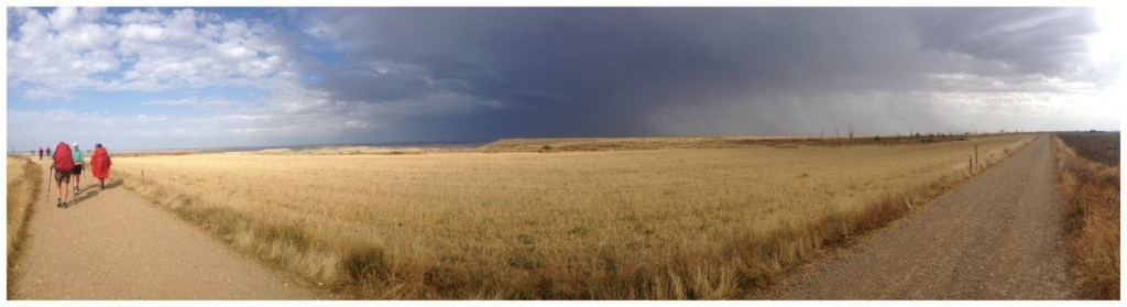 Rains in the distance on the Camino