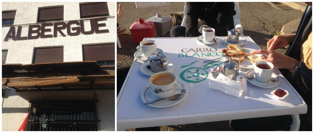 Second coffee break along the way near Puente Villarente