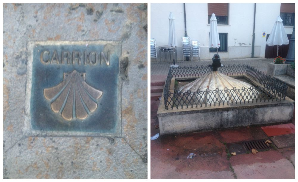 Shells in Carrion on the Camino route