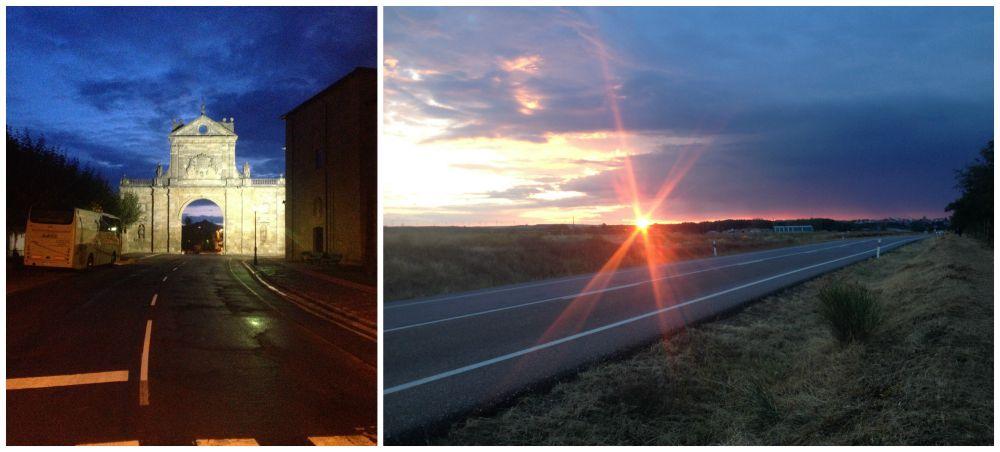 Sunrise leaving Sahagún