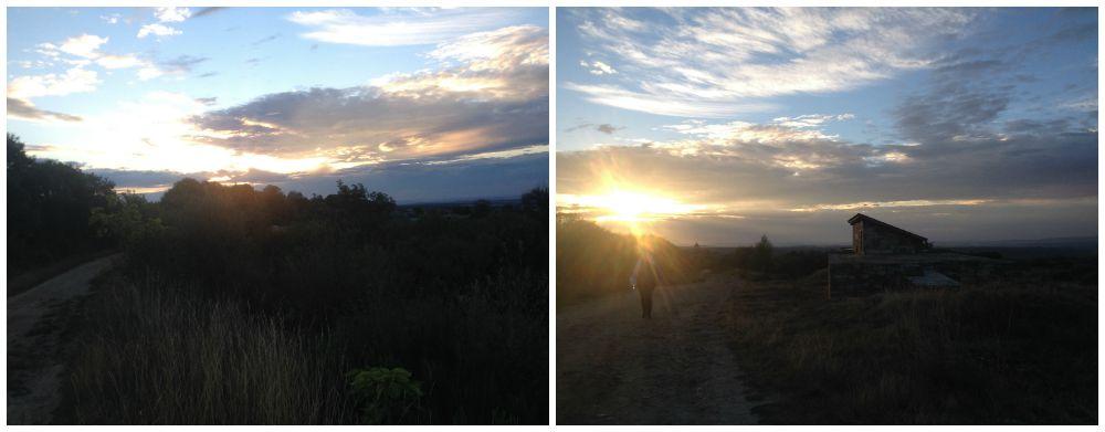 Sunrise on the Camino way