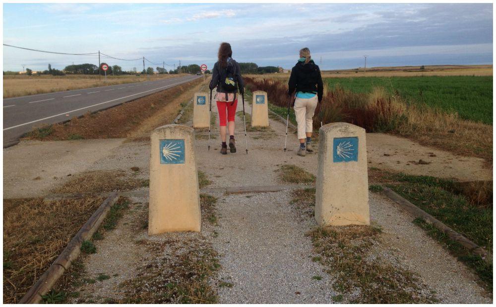 The Camino heading towards Carrión