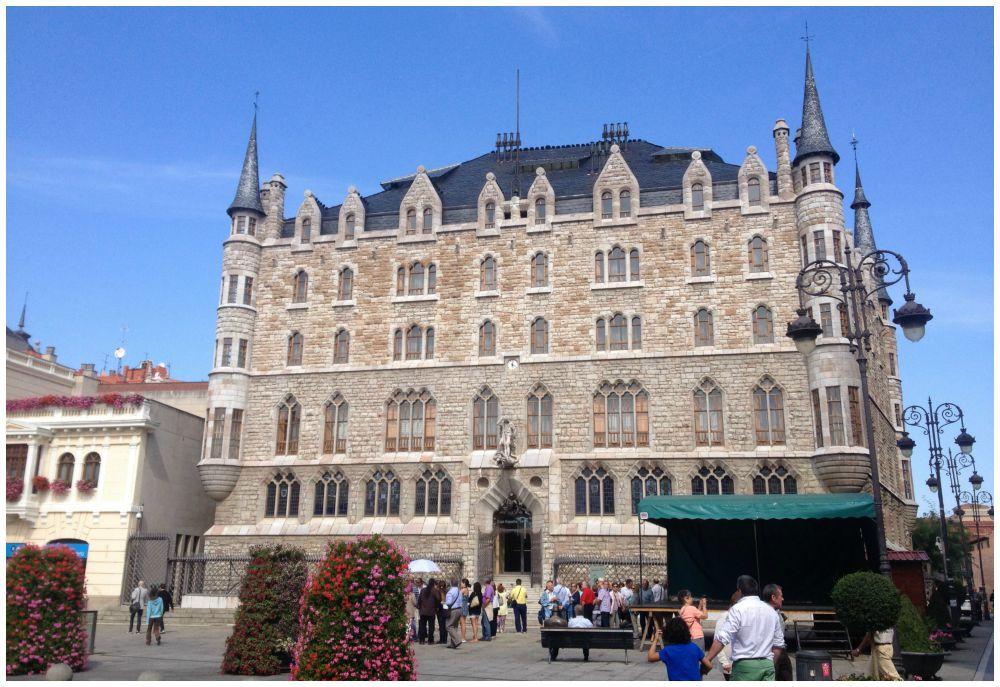 The Casa Botines - Gaudi building in Leon