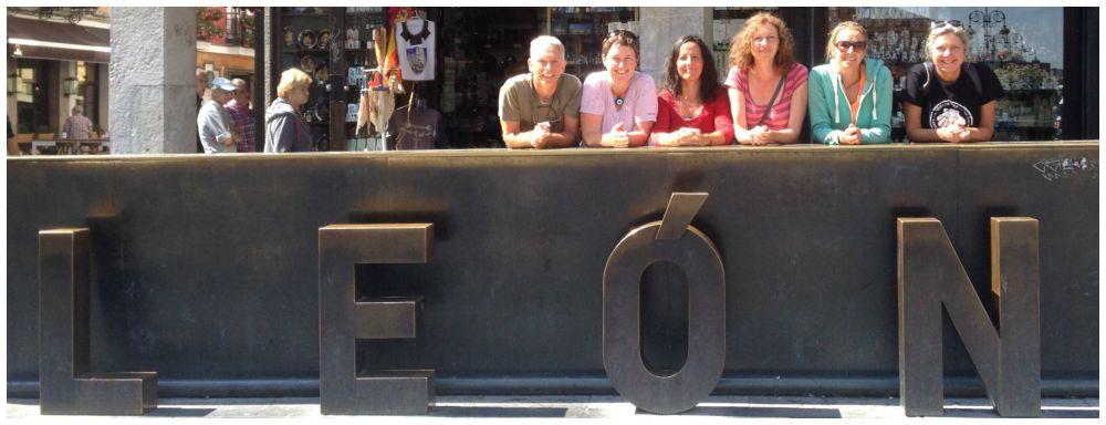 The six Camino friends in Leon