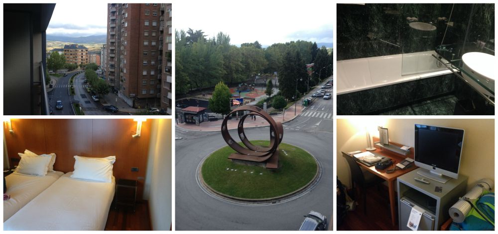 The view and hotel from in Ponferrada at the A1 Marriot
