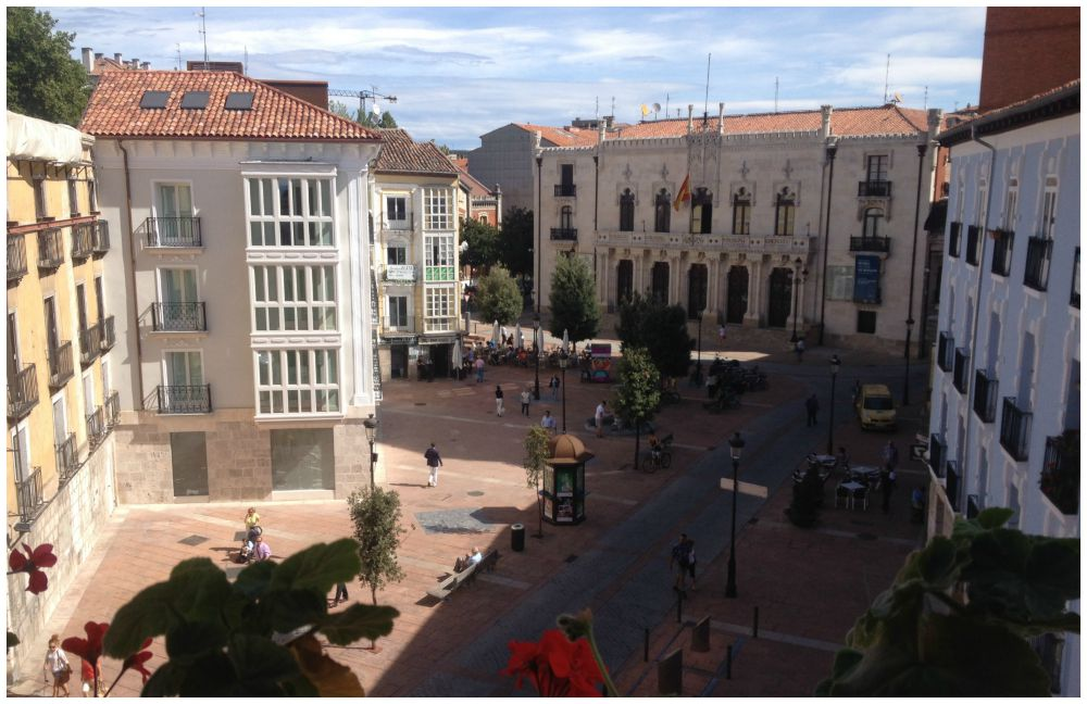 The view from our hotel room in Burgos