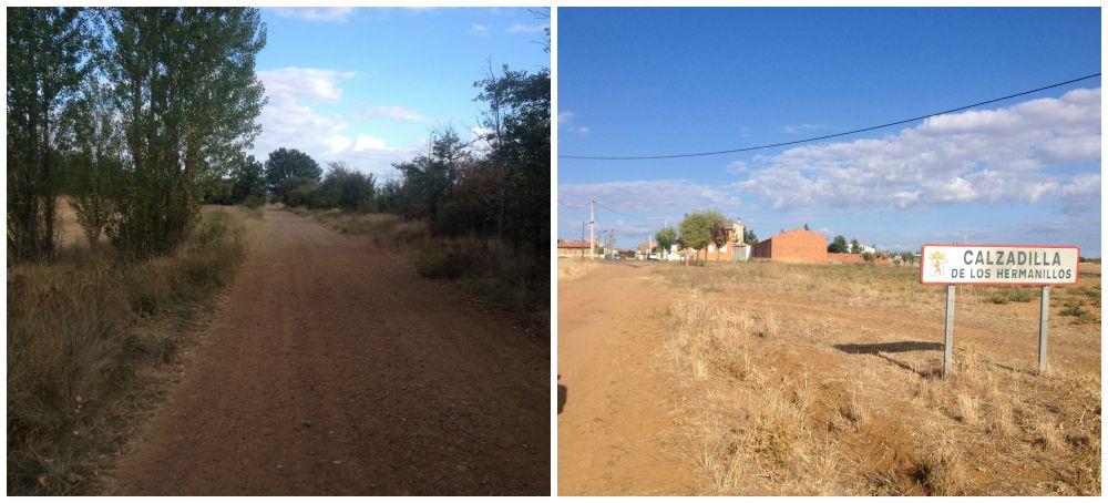 The way to Calzadilla De Los Hermanillos on the Camino