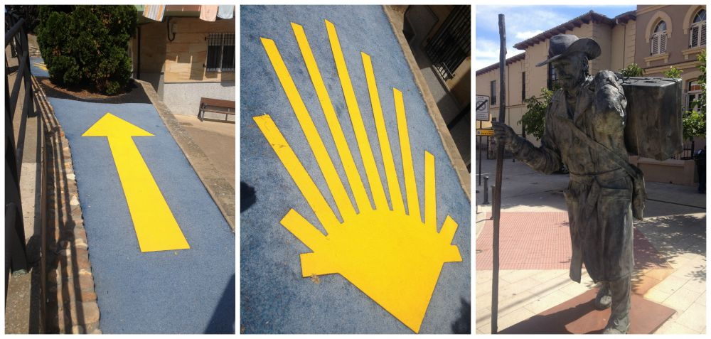 The yellow shell sign in Astorga