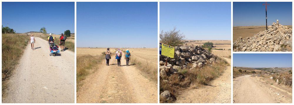 Walking over dry land towards Hontanas past San Bol