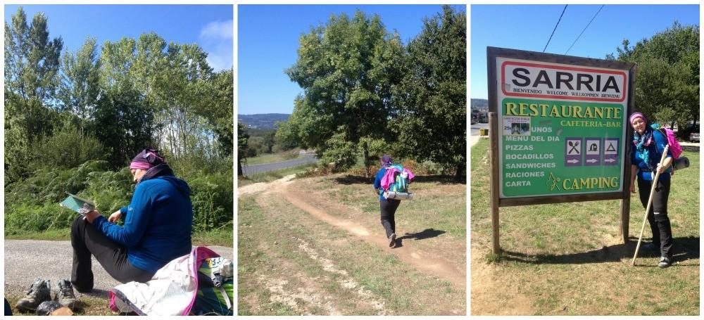 A break to check the way, the walk into Sarria