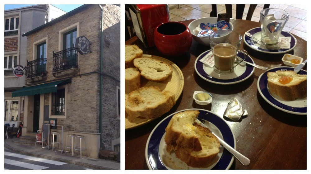 Breakfast in Samos on the Camino