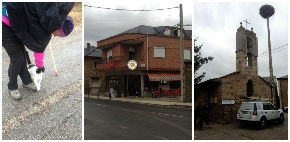 Columbrianos on the Camino de Frances, cafe Gran Sol