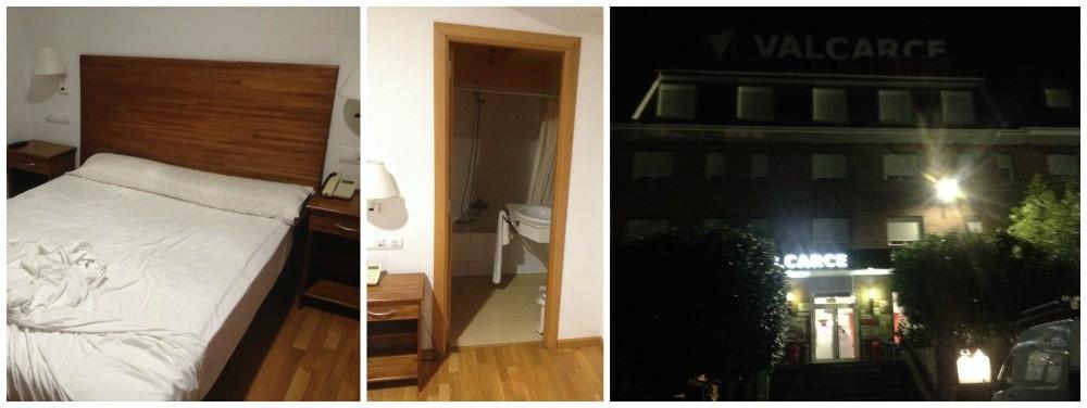 Leaving Hotel Valcarce in the dark
