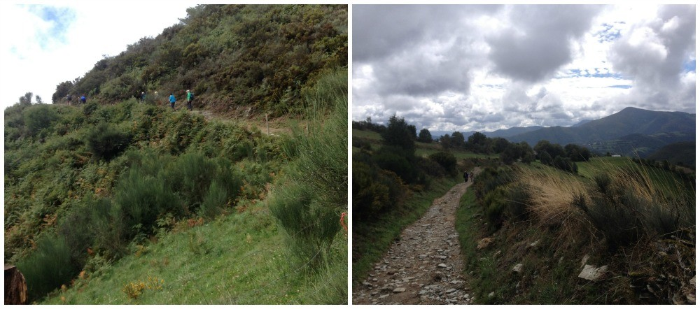 Nearing O'cebreiro at 1300m on the Camino