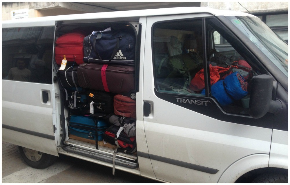 Not really pilgrim bags are they. Baggage transport on the Camino