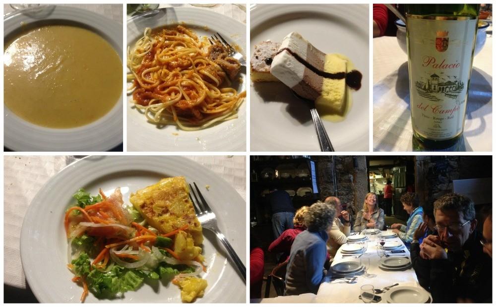 Pilgrim dinner at the Albergue Casa Domingo