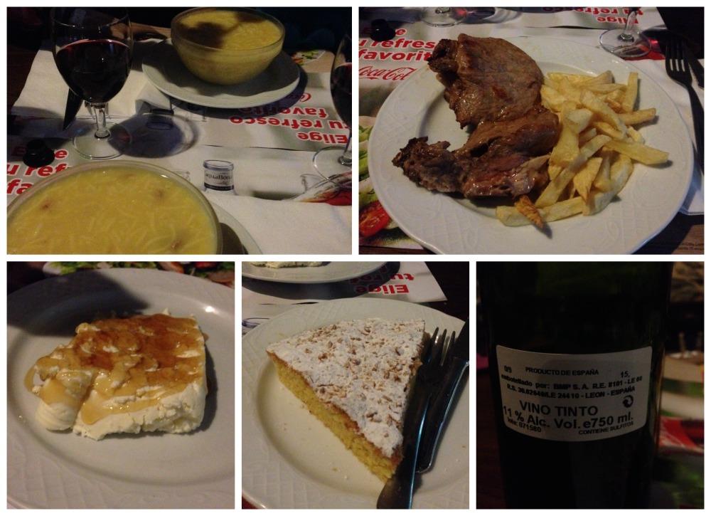 Pilgrim dinner at O Tear restaurante in Hospital