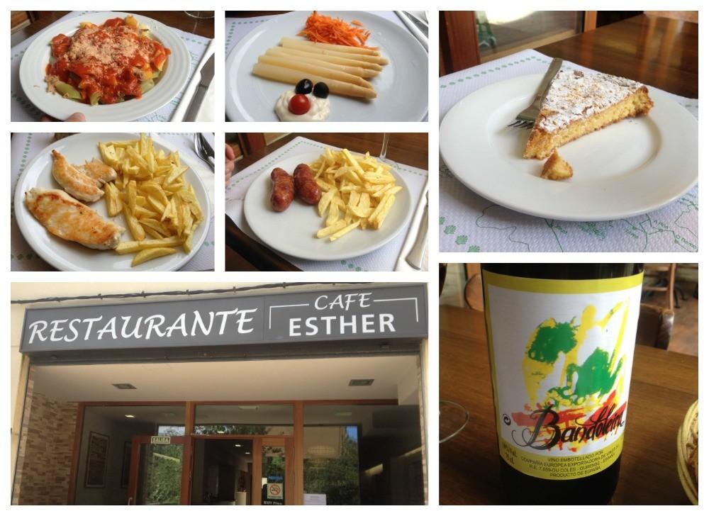 Pilgrim lunch at Cafe Esther in Triacastela