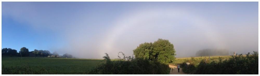 Rainbow over the Camino