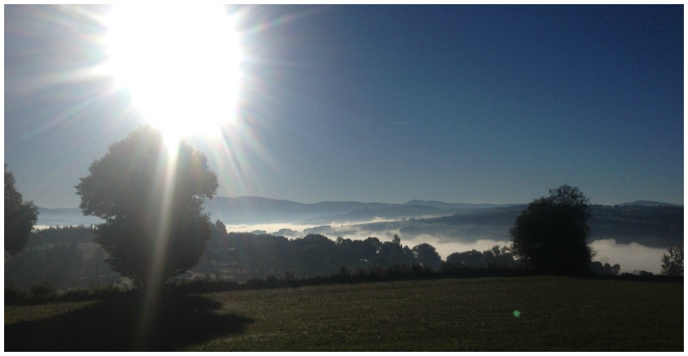Stunning scenery this morning with the low fog and sun
