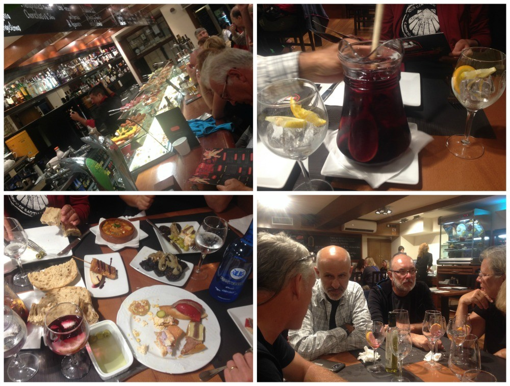 Tapas style dinner was enjoyed by the group of us