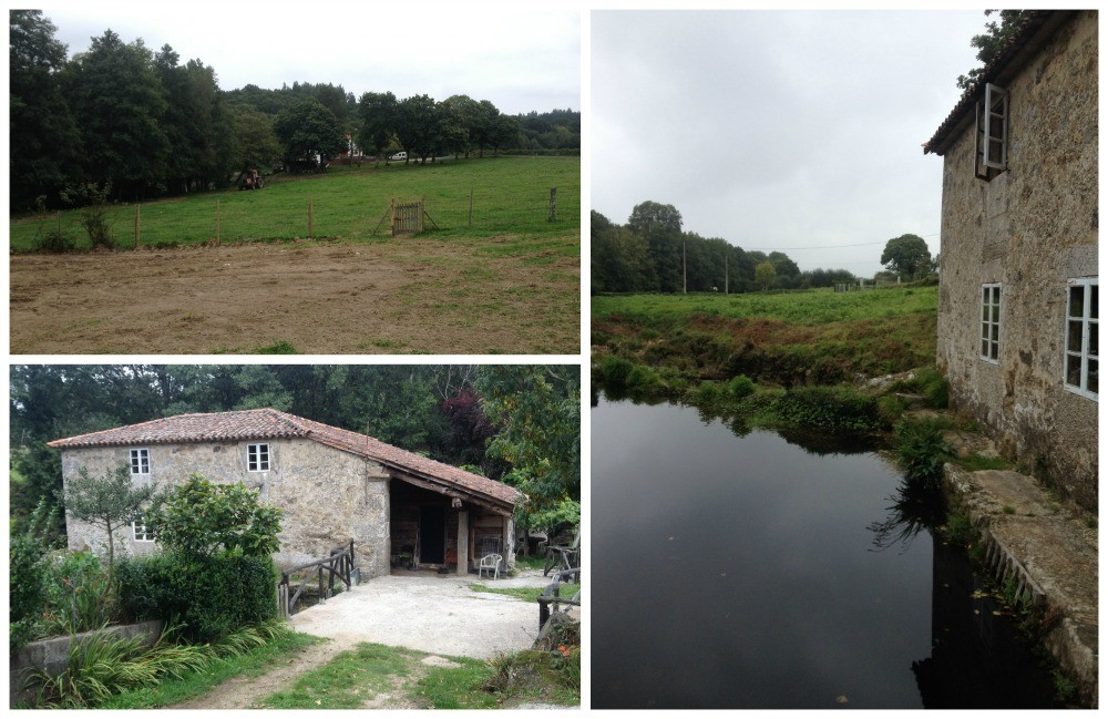 The Albergue has two parts, our room was at the bottom of this field