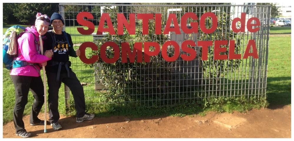 The Santiago de Compostela sign at the entrance to Santiago