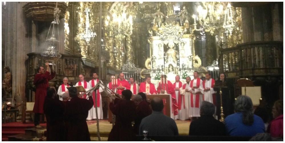The Santiago de Compostela Botafumeiro ceremony