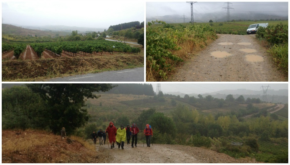 The long walk in the rain for the very wet pilgrims