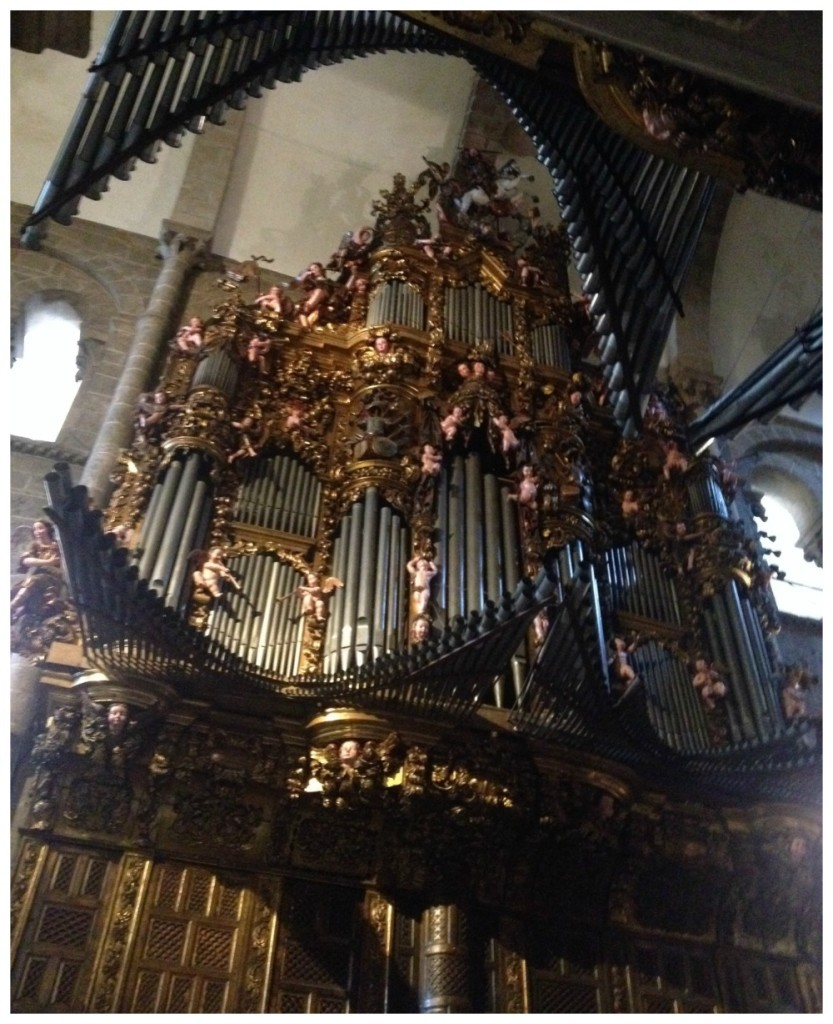 The organ that is on two walls of the cathedral