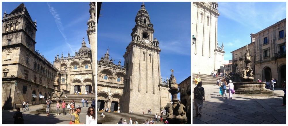 The square of the Romanesque façade das Pratarías