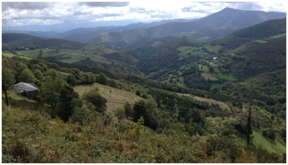 The view at the top in O'cebreiro