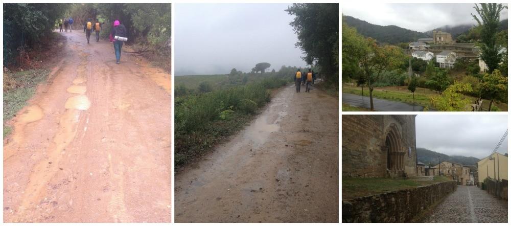 The wet way on the Camino arriving in Villafranca del Bierzo