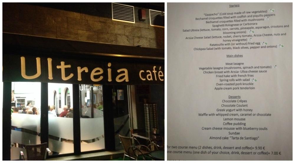 Ultreia Cafe in Arzua