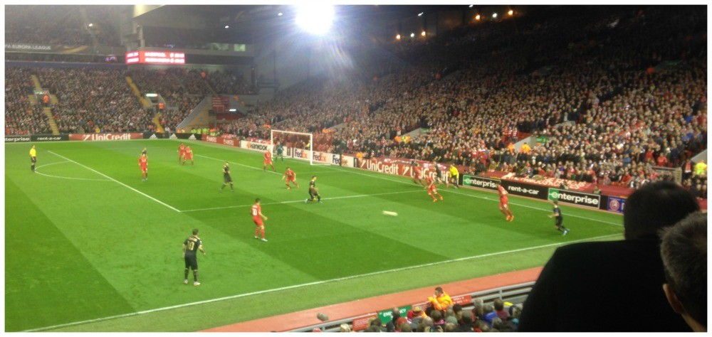 Action from game at Anfield
