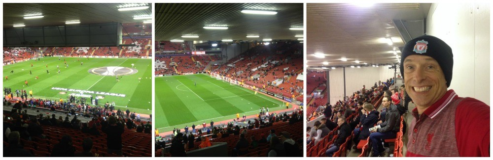 The view from right at the back of the Main Stand at Anfield