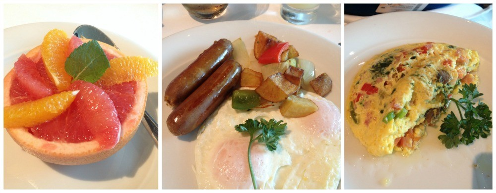 A few breakfast items in Savor on the Escape